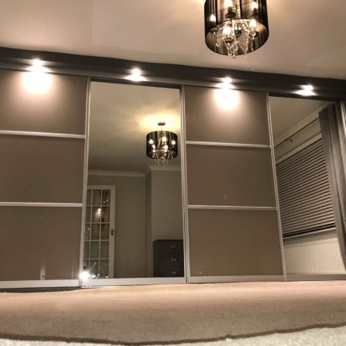 Bespoke wall to wall sliding door wardrobes